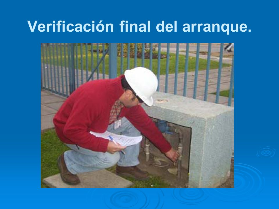 Verificación final del arranque.