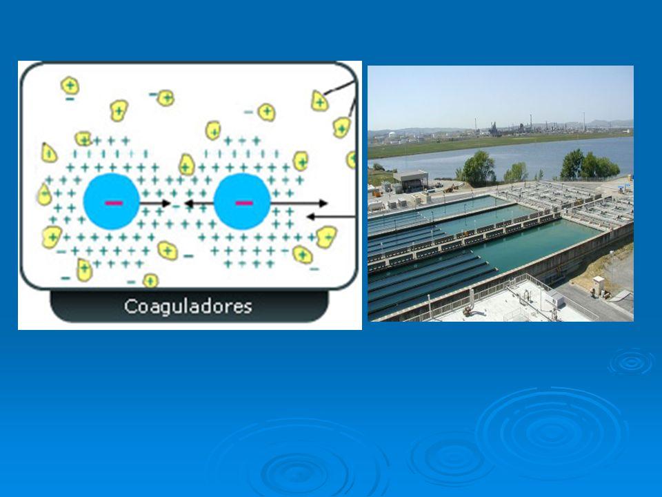 Floculación Es un proceso químico mediante el cual, con la adición de sustancias denominadas floculantes, se aglutinan las sustancias coloidales presentes en el agua Es un proceso químico mediante el cual, con la adición de sustancias denominadas floculantes, se aglutinan las sustancias coloidales presentes en el agua