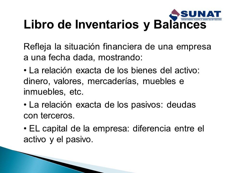 CONTENIDO DE LOS LIBROS Y REGISTROS CONTABLES