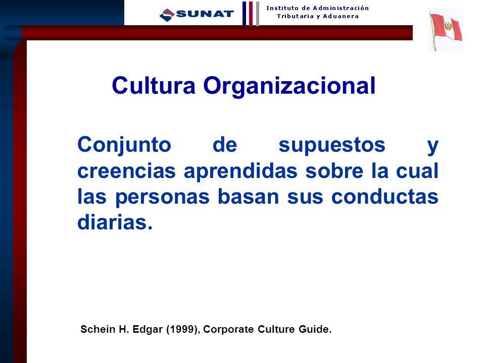 2 Conjunto de supuestos y creencias aprendidas sobre la cual las personas basan sus conductas diarias. Schein H. Edgar (1999), Corporate Culture Guide