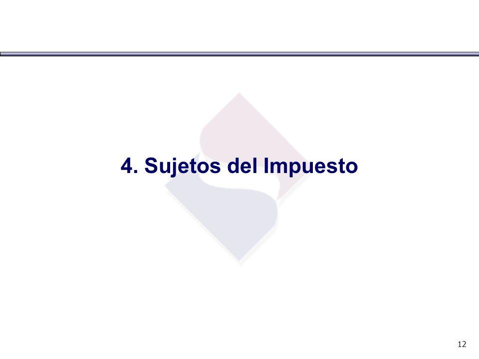 4. Sujetos del Impuesto 12