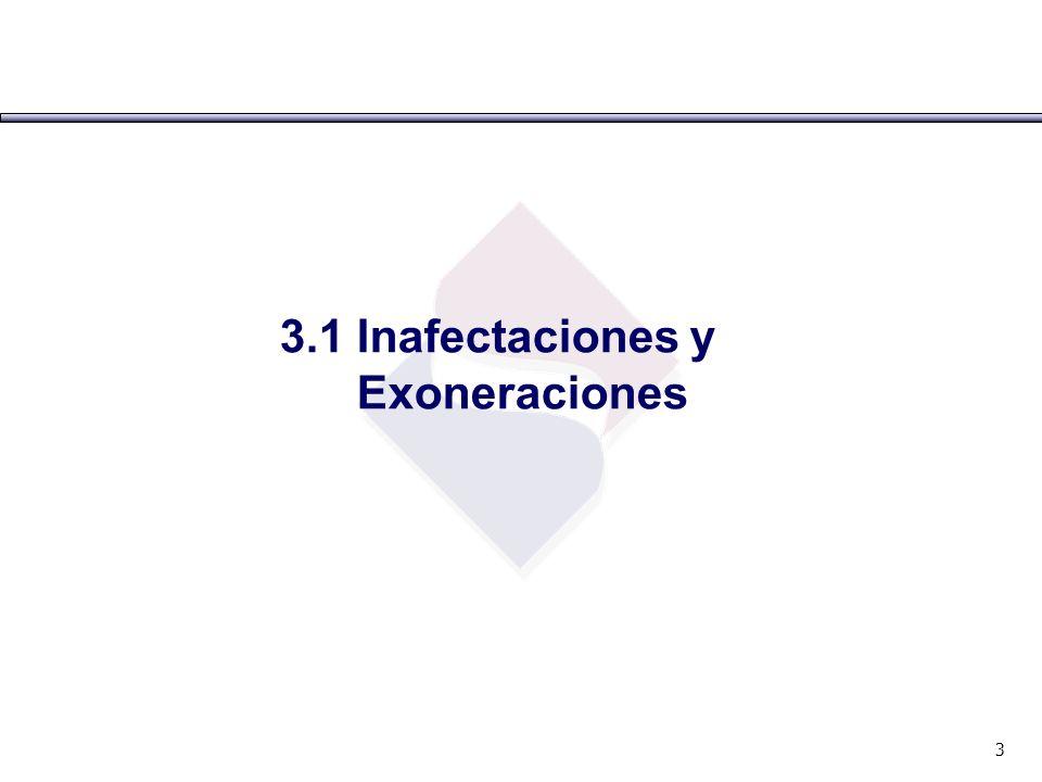 3 3.1 Inafectaciones y Exoneraciones