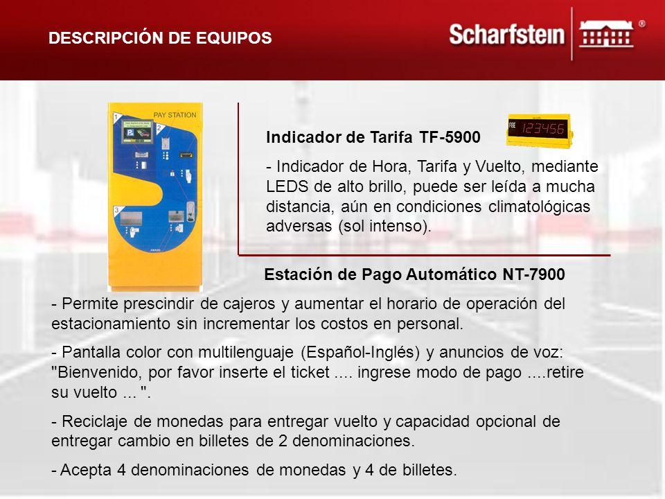 Indicador de Tarifa TF-5900 - Indicador de Hora, Tarifa y Vuelto, mediante LEDS de alto brillo, puede ser leída a mucha distancia, aún en condiciones