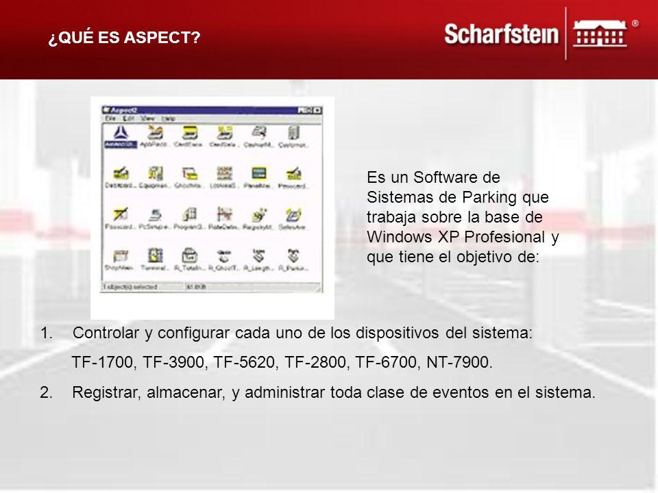 1.Controlar y configurar cada uno de los dispositivos del sistema: TF-1700, TF-3900, TF-5620, TF-2800, TF-6700, NT-7900. 2. Registrar, almacenar, y ad