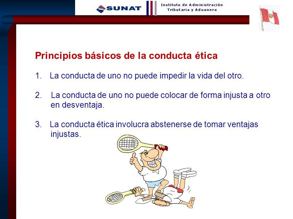 32 Principios básicos de la conducta ética 1.La conducta de uno no puede impedir la vida del otro. 2. La conducta de uno no puede colocar de forma inj