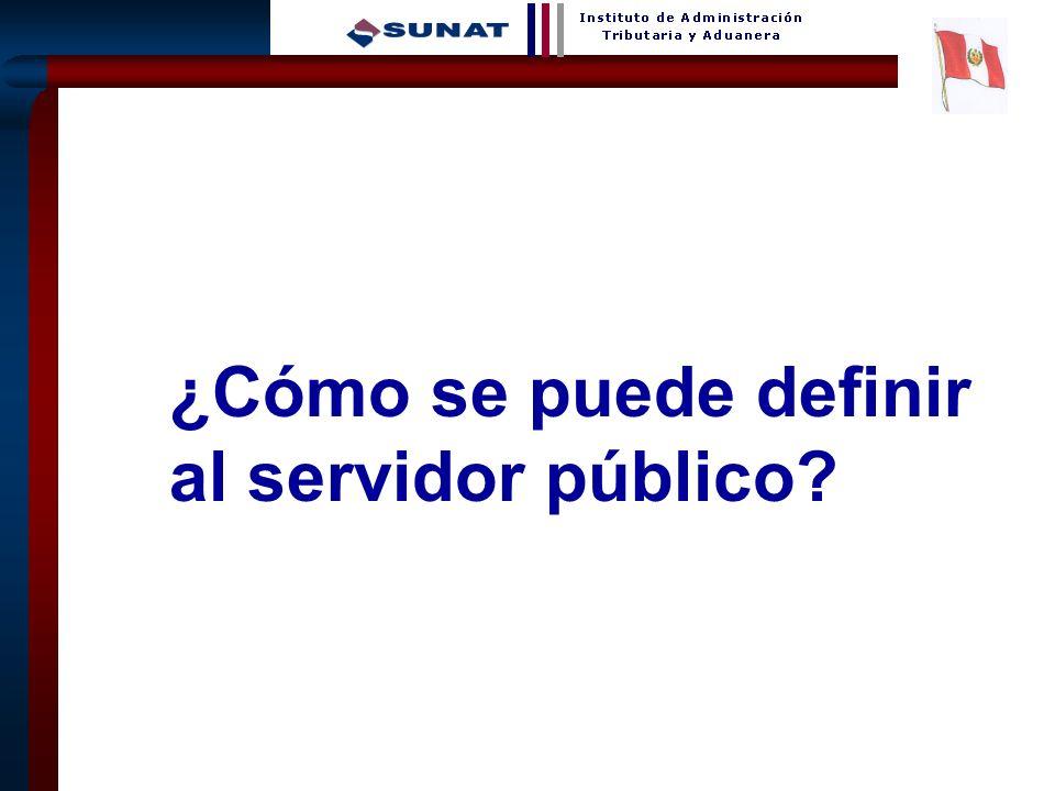 9 ¿Cómo se puede definir al servidor público?