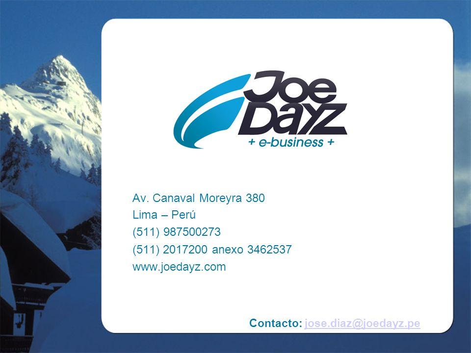 Contacto: jose.diaz@joedayz.pejose.diaz@joedayz.pe Av.