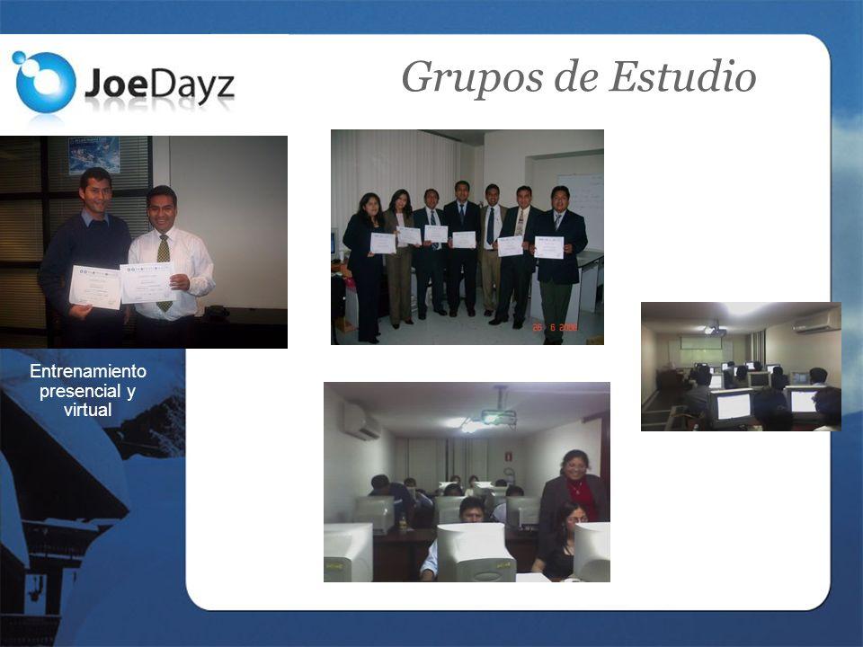 Grupos de Estudio Entrenamiento presencial y virtual