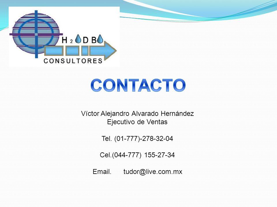 Víctor Alejandro Alvarado Hernández Ejecutivo de Ventas Tel. (01-777)-278-32-04 Cel.(044-777) 155-27-34 Email. tudor@live.com.mx