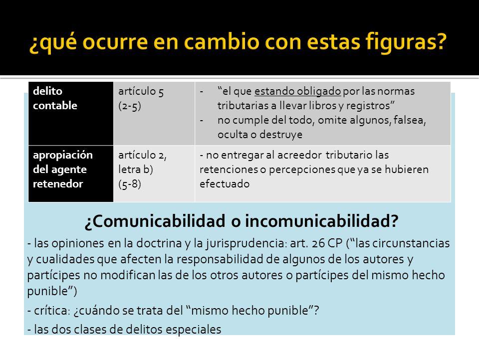 ¿Comunicabilidad o incomunicabilidad. - las opiniones en la doctrina y la jurisprudencia: art.