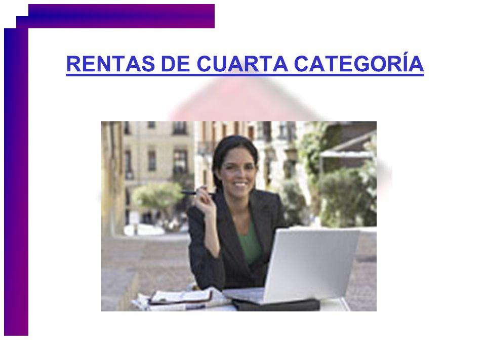 RENTAS DE CUARTA CATEGORÍA