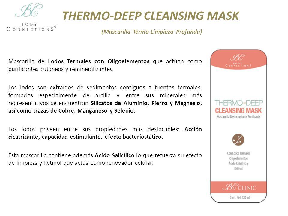 THERMO-DEEP CLEANSING MASK (Mascarilla Termo-Limpieza Profunda) Mascarilla de Lodos Termales con Oligoelementos que actúan como purificantes cutáneos