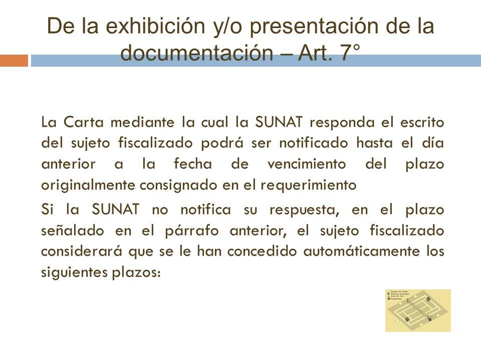 La Carta mediante la cual la SUNAT responda el escrito del sujeto fiscalizado podrá ser notificado hasta el día anterior a la fecha de vencimiento del