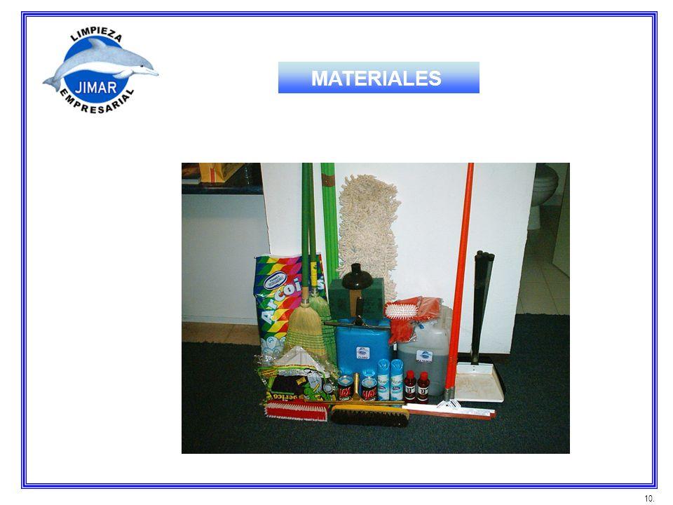 10. MATERIALES