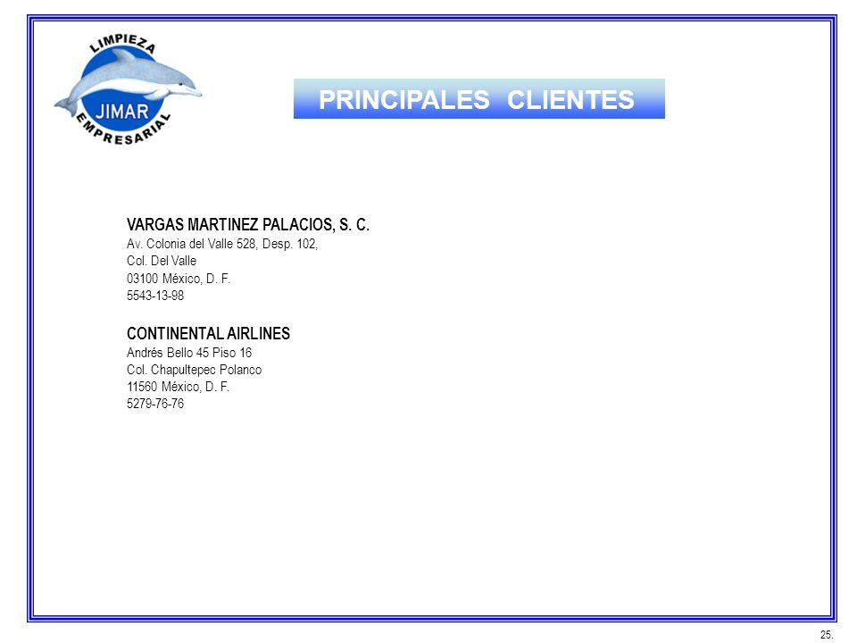 VARGAS MARTINEZ PALACIOS, S. C. Av. Colonia del Valle 528, Desp. 102, Col. Del Valle 03100 México, D. F. 5543-13-98 CONTINENTAL AIRLINES Andrés Bello
