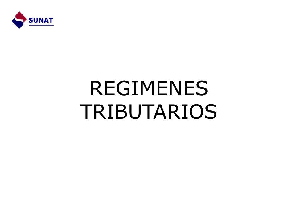 REGIMENES TRIBUTARIOS SUNAT