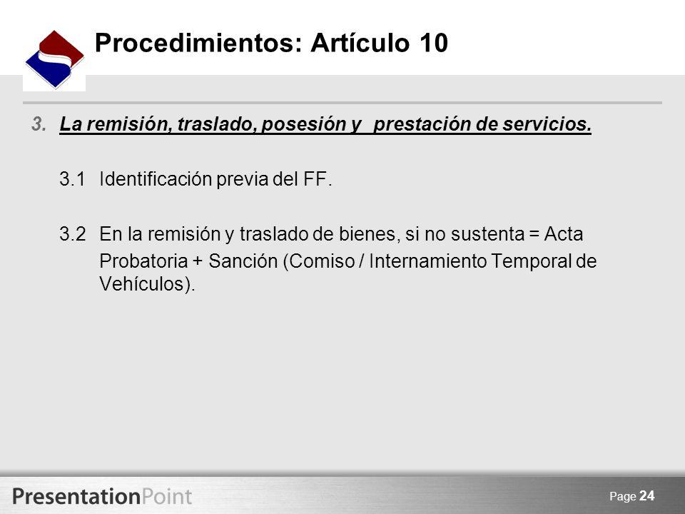 Page 24 3.La remisión, traslado, posesión y prestación de servicios. 3.1Identificación previa del FF. 3.2En la remisión y traslado de bienes, si no su
