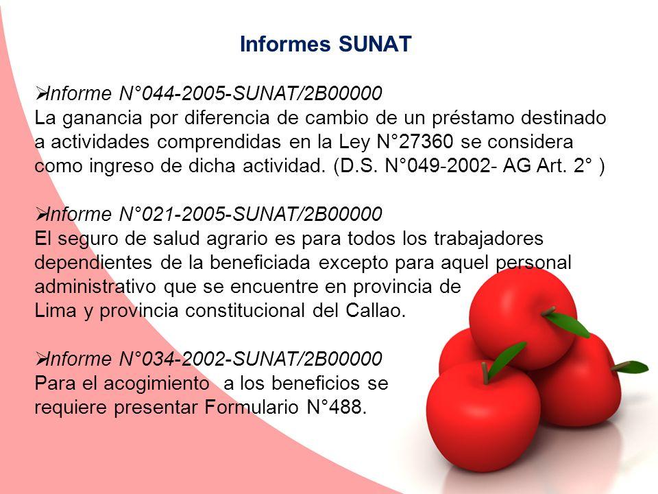 Informes SUNAT Informe N°044-2005-SUNAT/2B00000 La ganancia por diferencia de cambio de un préstamo destinado a actividades comprendidas en la Ley N°2