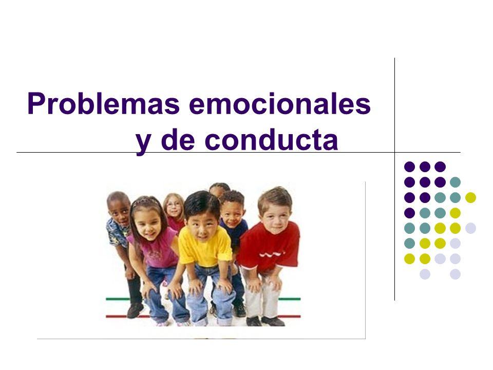 Como se definen Los problemas emocionales se definen como una condición que exhibe una o más de las siguientes características a través de un largo período de tiempo y hasta cierto grado, lo cual afecta desfavorablemente el rendimiento educacional del niño