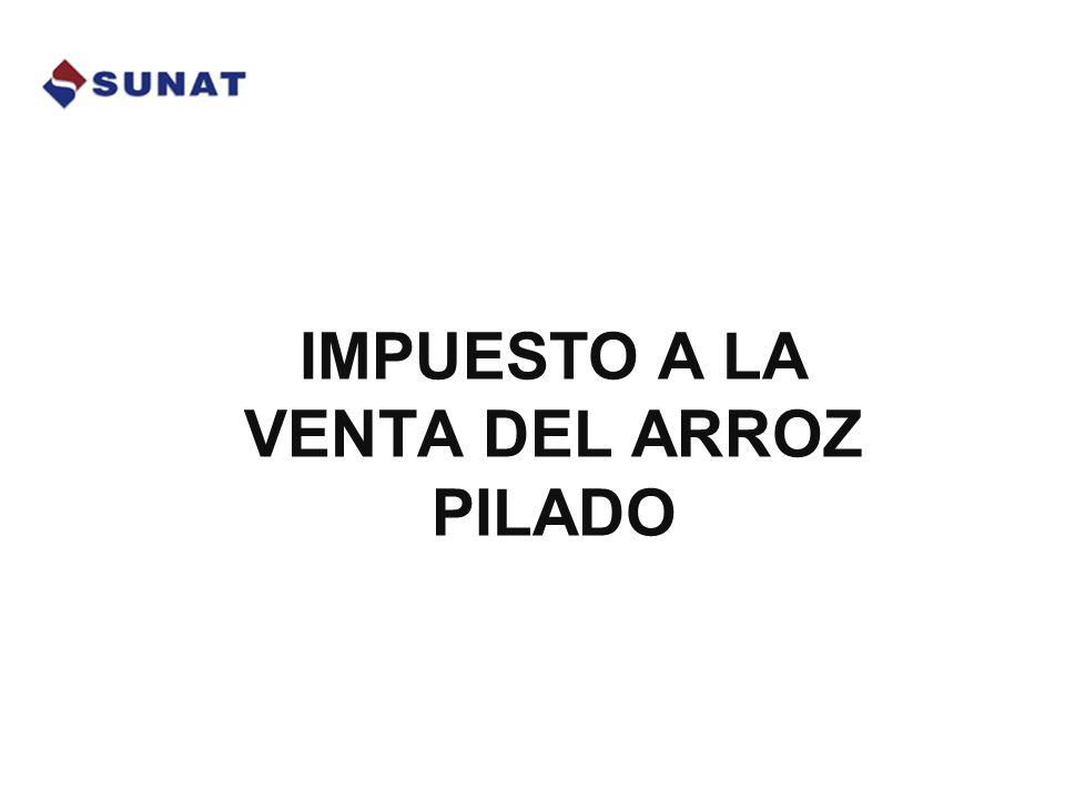 IVAP Superintendencia Nacional de Administración Tributaria – Abril 2009 Aplicación del SPOT - Retiro del Molino Adquiriente detrae aplicando el 3.85% sobre el Importe de la Operación y deposita en la Cta.