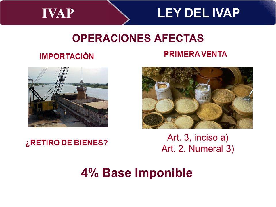 IVAP Superintendencia Nacional de Administración Tributaria – Abril 2009 FINALIDAD –Garantizar el pago del IVAP por las operaciones realizadas en territorio nacional.