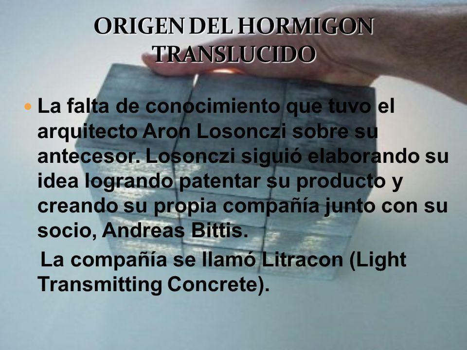 La falta de conocimiento que tuvo el arquitecto Aron Losonczi sobre su antecesor. Losonczi siguió elaborando su idea logrando patentar su producto y c