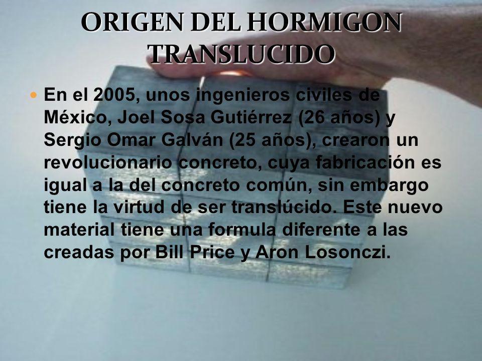 En el 2005, unos ingenieros civiles de México, Joel Sosa Gutiérrez (26 años) y Sergio Omar Galván (25 años), crearon un revolucionario concreto, cuya