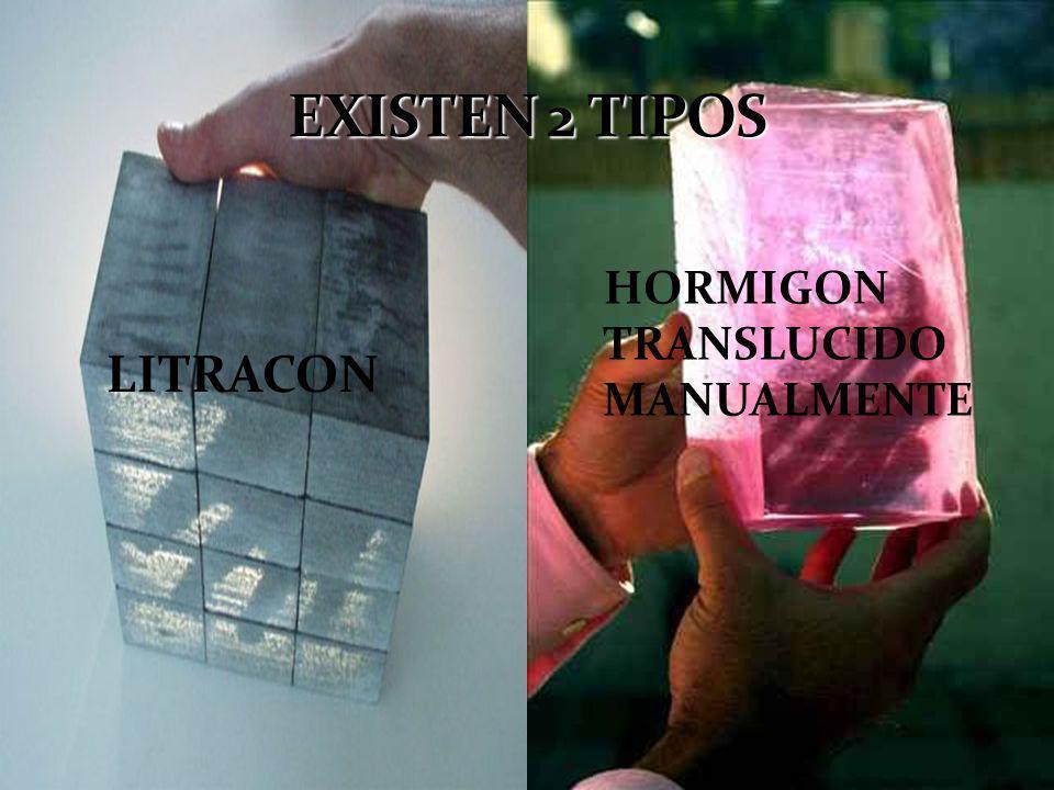 HORMIGON TRANSLUCIDO MANUALMENTE LITRACON