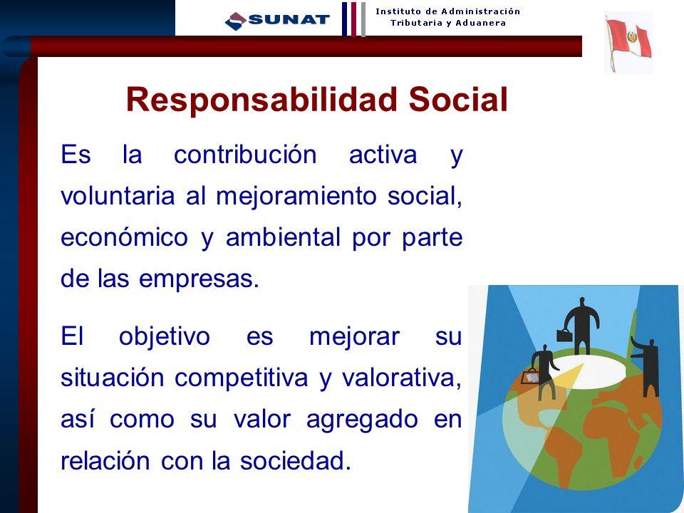19 Responsabilidad Social Es la contribución activa y voluntaria al mejoramiento social, económico y ambiental por parte de las empresas. El objetivo