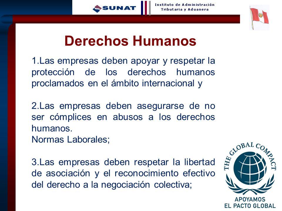 27 1.Las empresas deben apoyar y respetar la protección de los derechos humanos proclamados en el ámbito internacional y 2.Las empresas deben asegurar