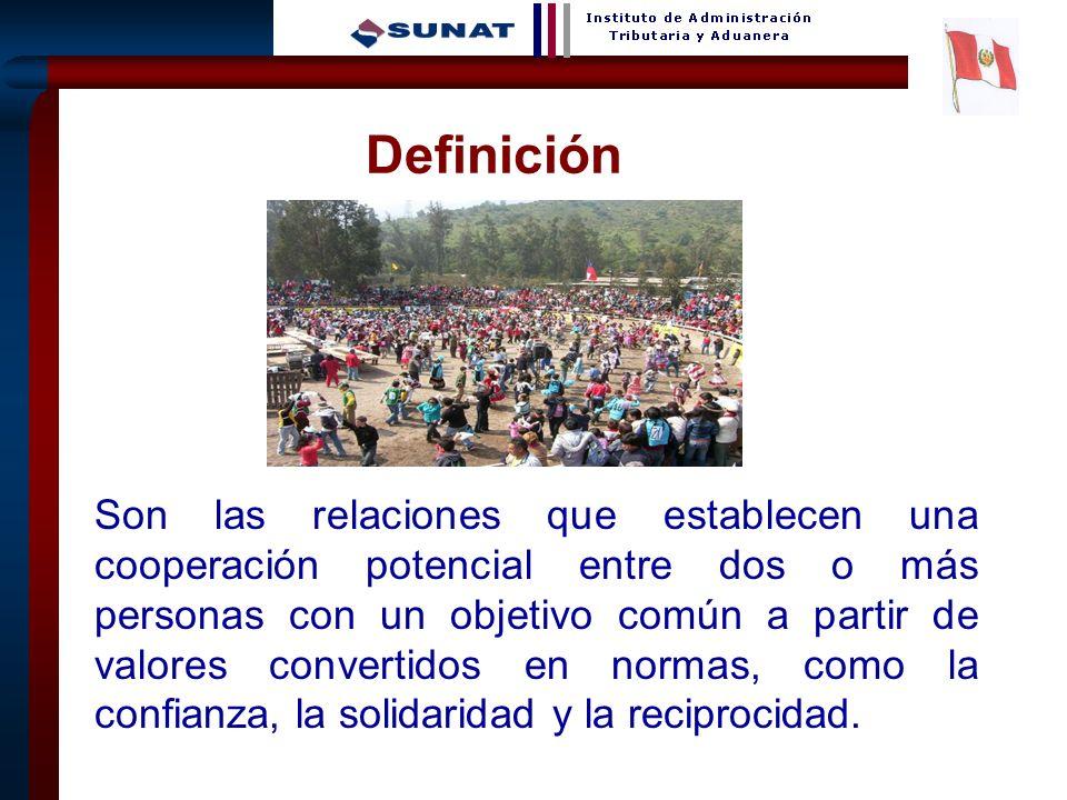8 Definición Son las relaciones que establecen una cooperación potencial entre dos o más personas con un objetivo común a partir de valores convertido