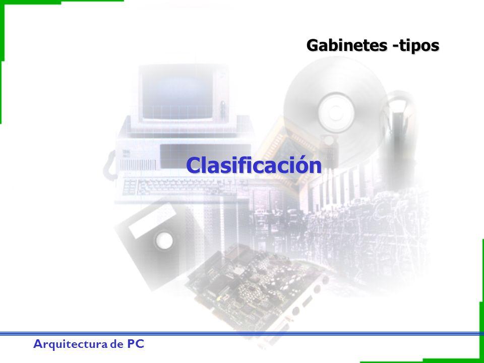 Arquitectura de PC Clasificación Gabinetes -tipos