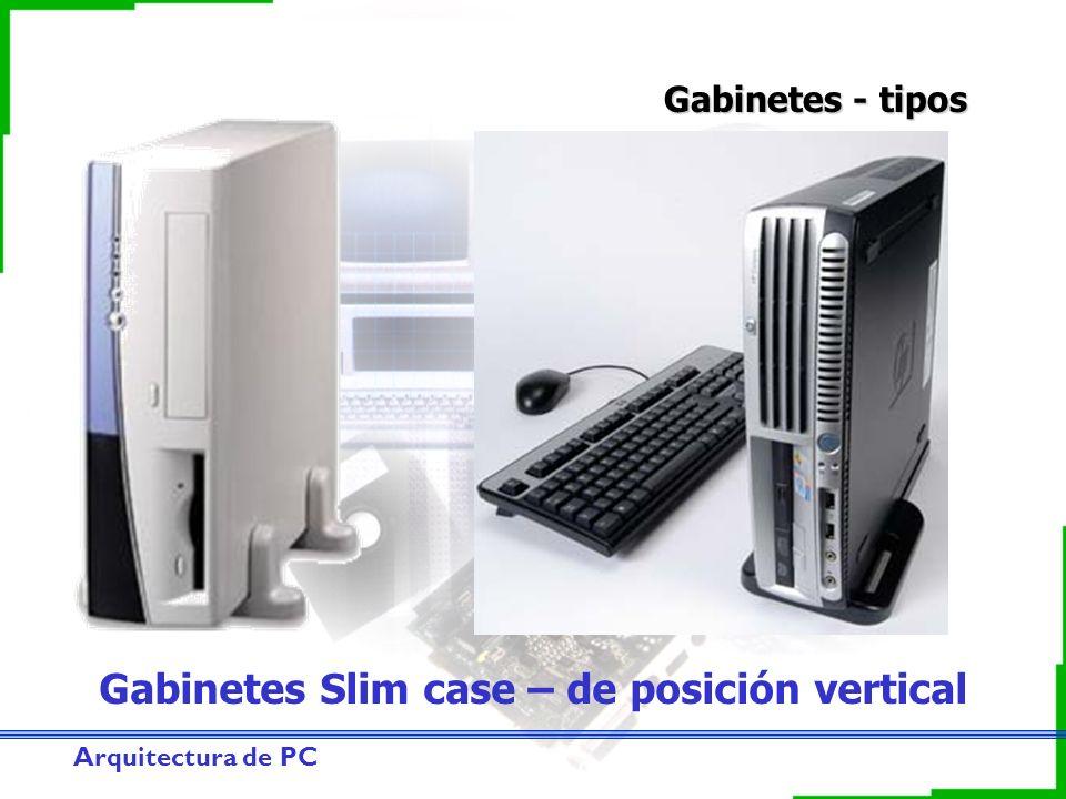 Arquitectura de PC Gabinetes - tipos Gabinetes Slim case – de posición vertical