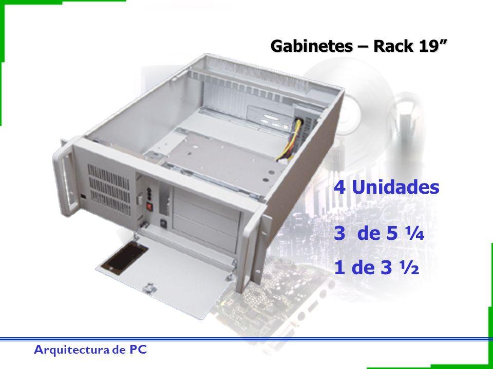 Arquitectura de PC Gabinetes – Rack 19 4 Unidades 3 de 5 ¼ 1 de 3 ½