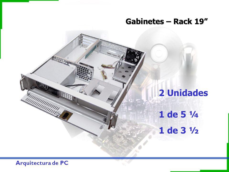 Arquitectura de PC Gabinetes – Rack 19 2 Unidades 1 de 5 ¼ 1 de 3 ½