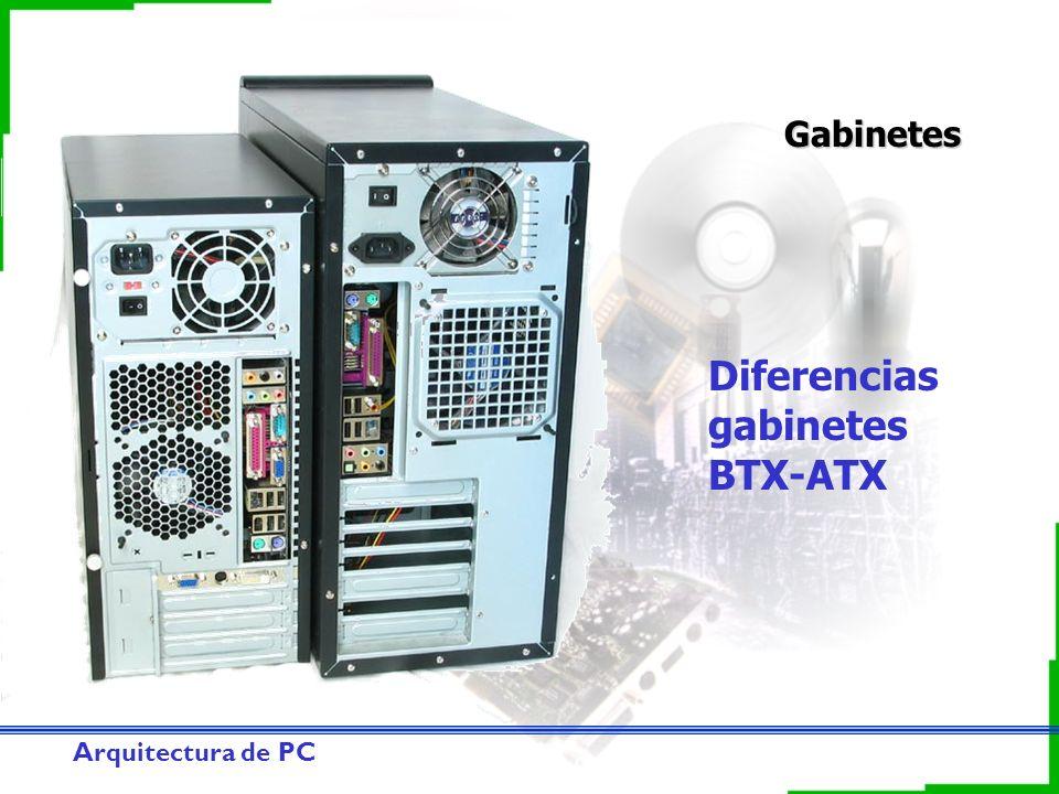 Arquitectura de PC Gabinetes Diferencias gabinetes BTX-ATX