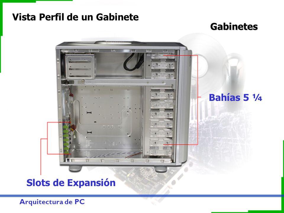 Arquitectura de PC Gabinetes Vista Perfil de un Gabinete Bahías 5 ¼ Slots de Expansión