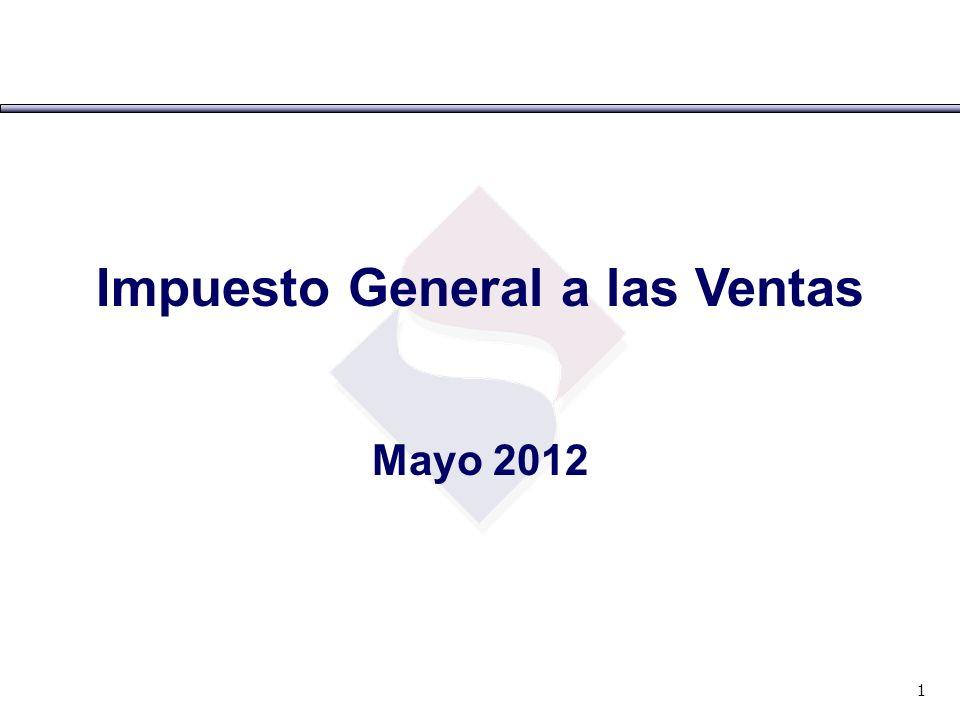 Impuesto General a las Ventas Mayo 2012 1