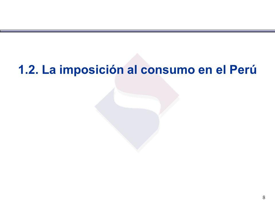1.2. La imposición al consumo en el Perú 8