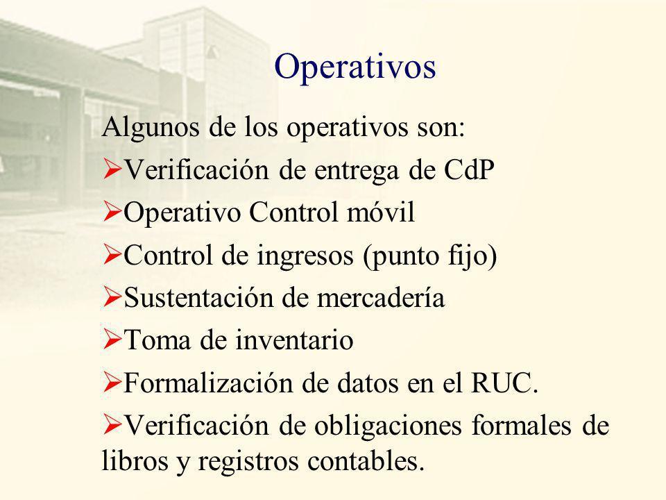 Intervenciones Las intervenciones entre otras pueden ser: Auditorias Verificaciones Operativos Acciones inductivas
