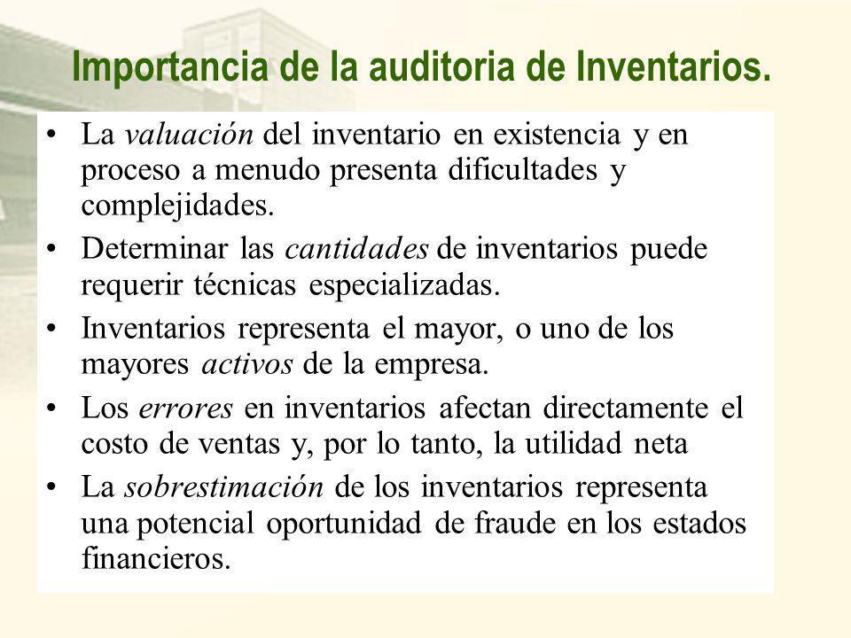 Toma de Inventarios Si producto de la toma de inventario se detectaran faltantes y/o sobrantes, se podrá aplicar las presunciones establecidas en el a
