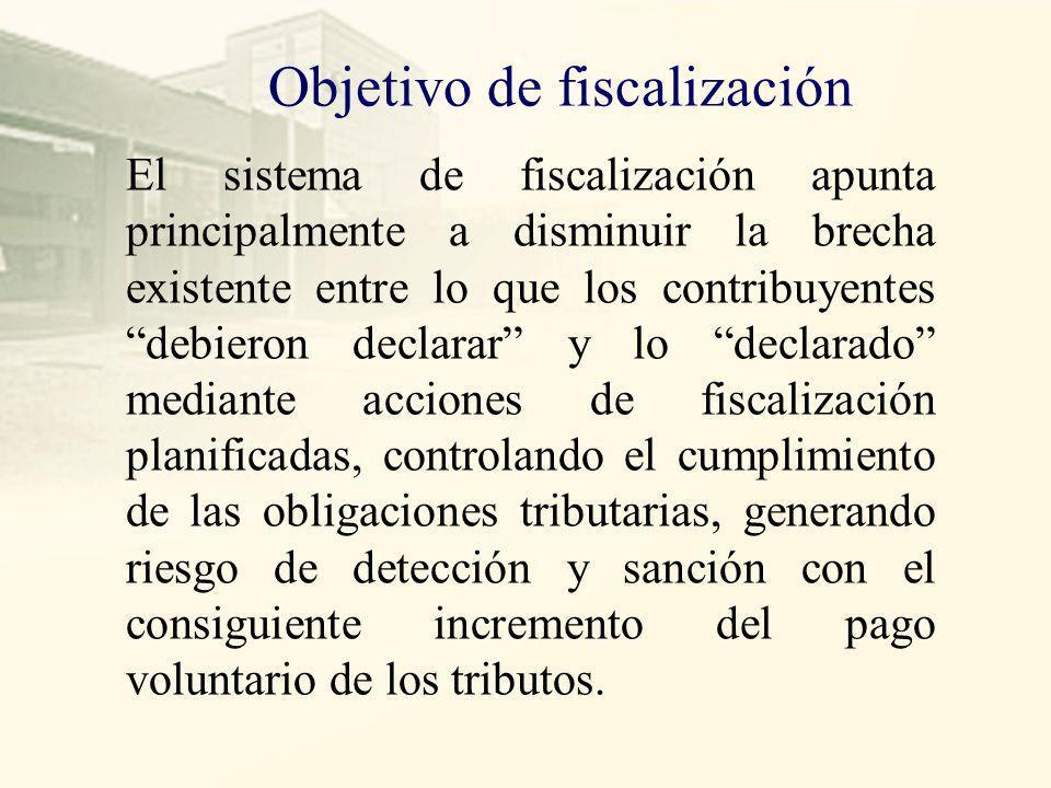 Estrategia Las estrategias de la Administración Tributaria están dirigidas a cerrar o combatir la brechas de incumplimiento de las obligaciones tributarias, como la brecha de inscripción, de declaración, pago y de veracidad.