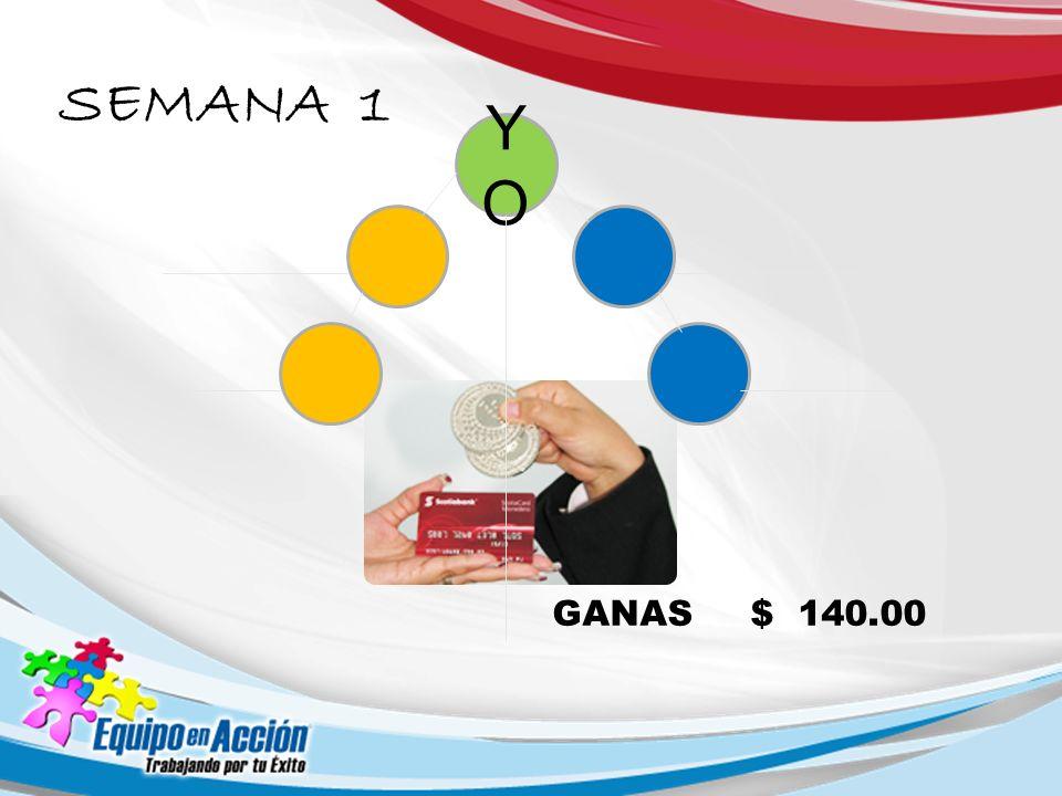 YOYO GANAS $ 140.00 SEMANA 1