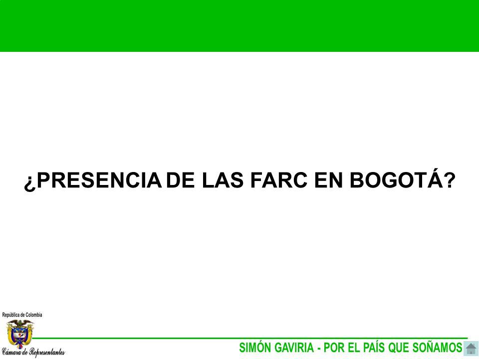¿PRESENCIA DE LAS FARC EN BOGOTÁ