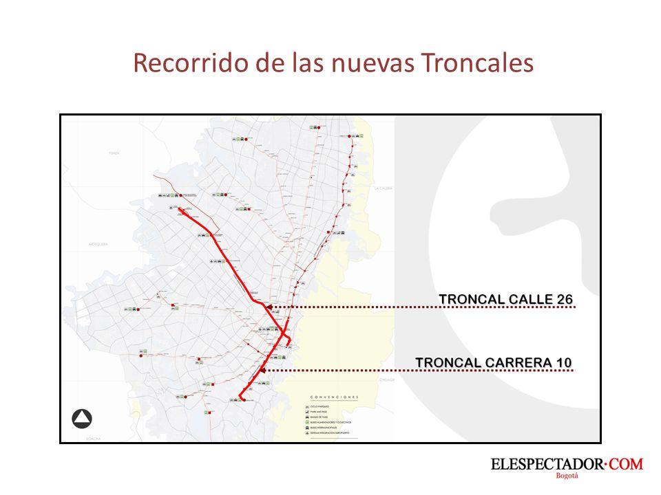 Así será la Troncal de la Carrera Décima LONGITUD LONGITUD Cll 31 sur – Cll 34: 7.2 Km.