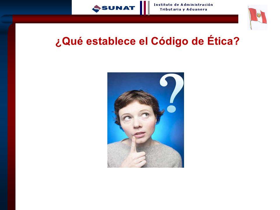 7 ¿Qué establece el Código de Ética?
