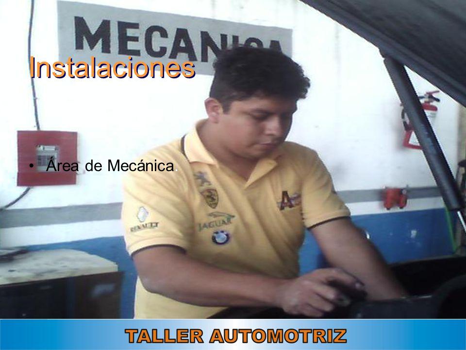 Instalaciones Área de Mecánica.