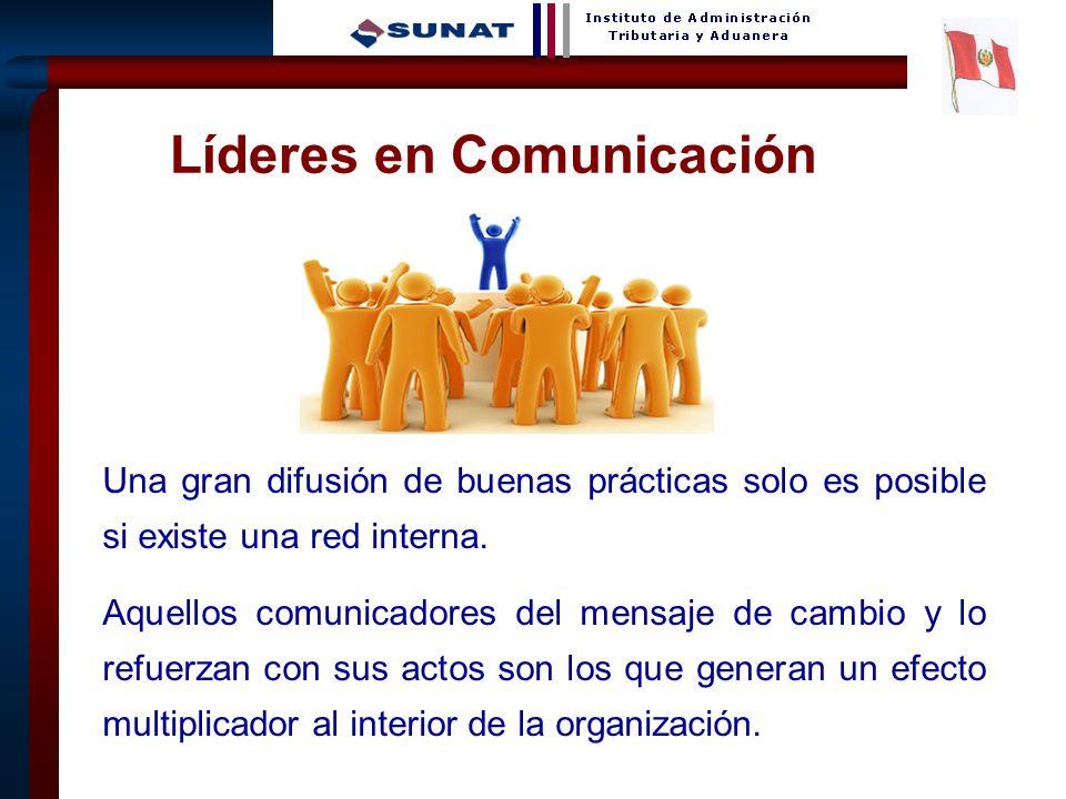 14 Líderes en Comunicación Una gran difusión de buenas prácticas solo es posible si existe una red interna.