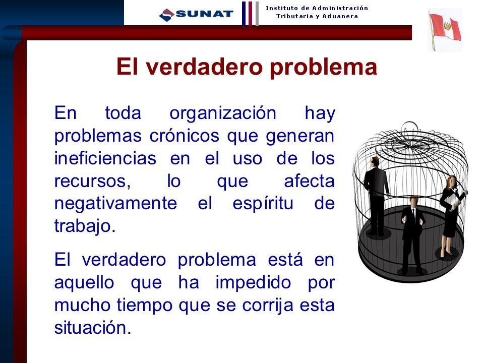 9 El verdadero problema En toda organización hay problemas crónicos que generan ineficiencias en el uso de los recursos, lo que afecta negativamente el espíritu de trabajo.