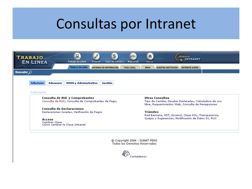 Consultas por Intranet